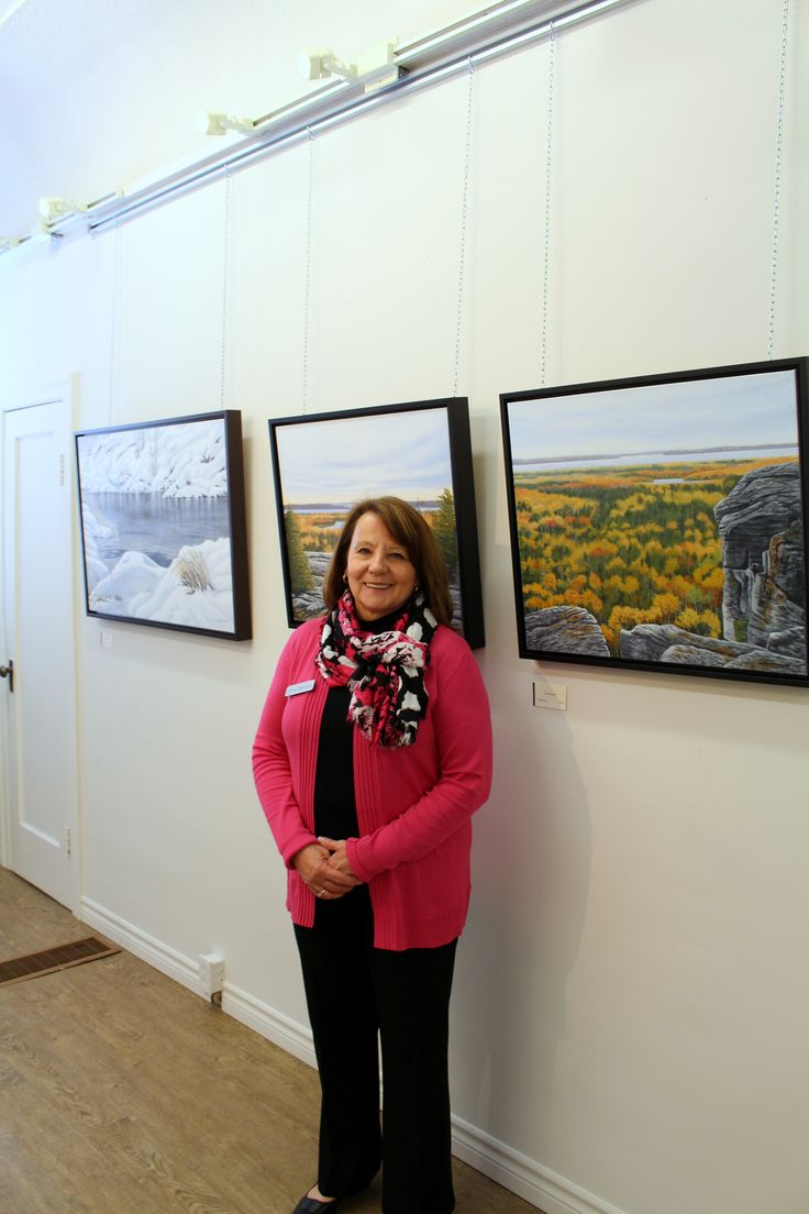 Linda Mullola at the opening reception for exhibition Installation shot for Linda Mullola's exhibition 'Close to Home'. April 2016, The Northern Artist Gallery