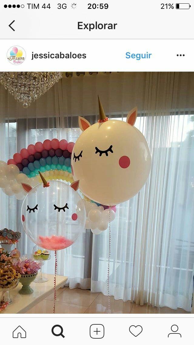 Baloes unicornio