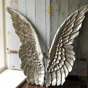 large silver angel wings wall decor art                                                                                                                                                                                 More