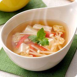 かにかまとふんわり卵の簡単中華スープ (レシピNo.2422)