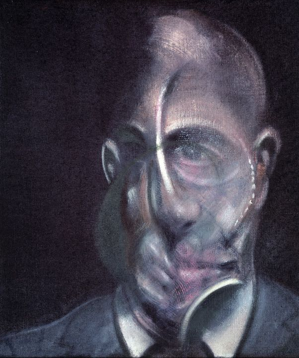 Portrait-of-Michel-Leiris-1976-thbsocial-size.jpg (602×720) francis bacon paintings  plastic arts, visual arts, fine arts, art, black