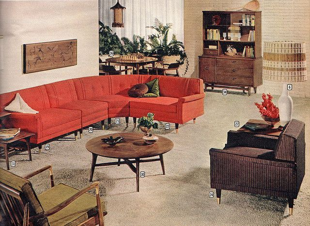 Merveilleux In The 1960s They Used Large Sofas As Furniture. 1960s Home DecorMid ...