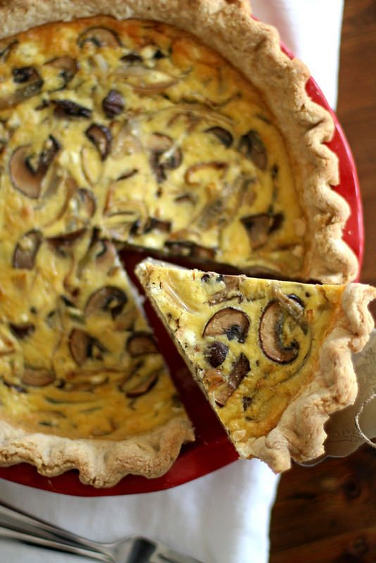Caramelized Shallot and Mushroom Quiche | girlversusdough.com @stephmwise