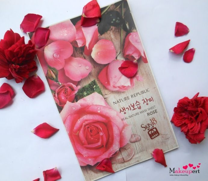 Nature Republic Real Nature Sheet Mask Rose Review http://www.beautyscoopindia.com/nature-republic-real-nature-sheet-mask-rose-review/#rose #facemask