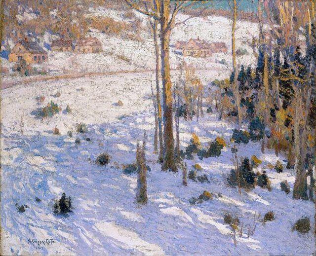 Marc-Aurèle de Foy Suzor-Coté - Habitations sur la colline, 1909