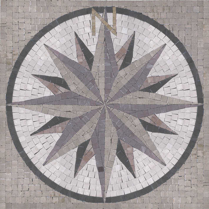 Compass 36 Quot X 36 Quot By Appomattox Tile Art Medallions