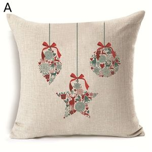 (EU Lager)Weihnachten Kissenhülle Weihnachtsdeko Design