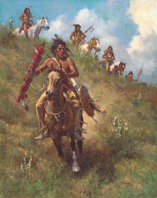 Autry Museum Masters of the American West, 2016. Howard Terpning's he Honor of Being Pipe Carrier