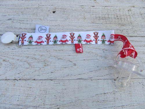 Kerst speenkoord met sneeuwpoppetjes