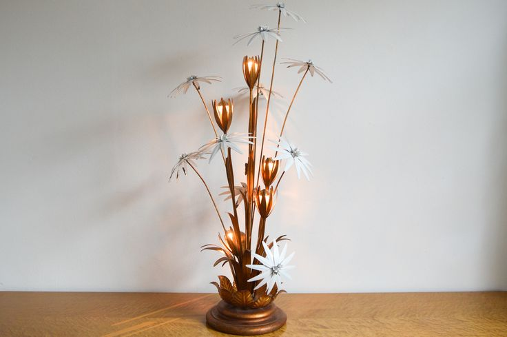 MID CENTURY FLOWER FLOOR LAMP BY HANS KÖGL // 1970s - Wall - Greedfineart.com
