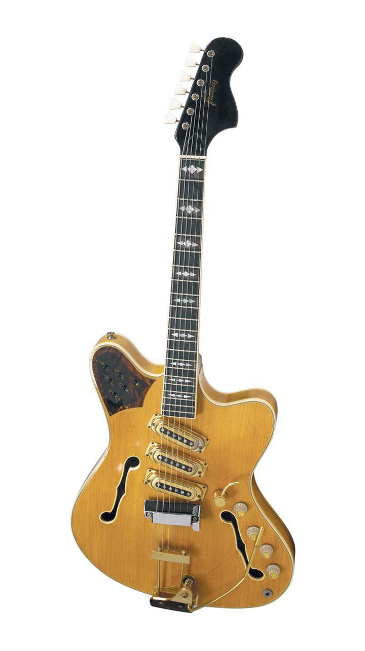Foldaway Tote - golden guitar by VIDA VIDA oG1sLwK5nJ