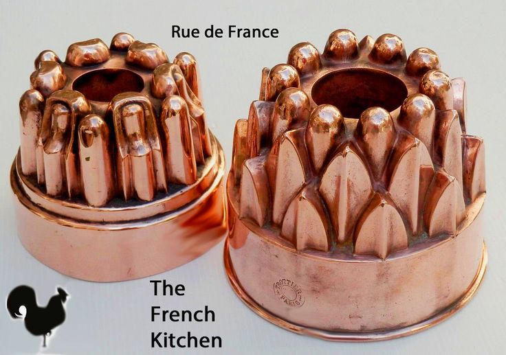 Antique French Kitchen copper moulds