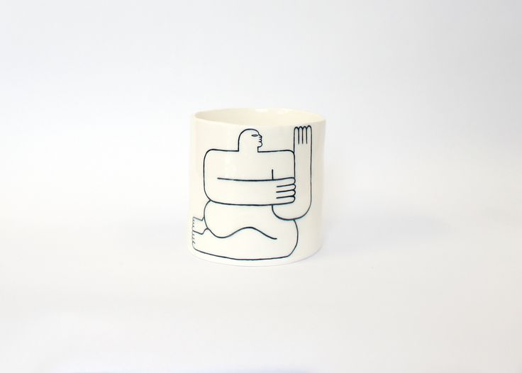 LOUISE MADZIA 'ON MY KNEES' CERAMIC PLANTER