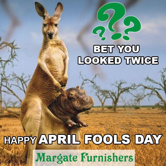 Happy April Fool's day from Margate Furnishers. P.S make sure your eyes don't play tricks on you today!