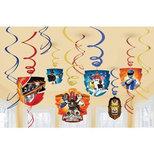 Power Rangers Megaforce Hanging Swirls Party Decoration