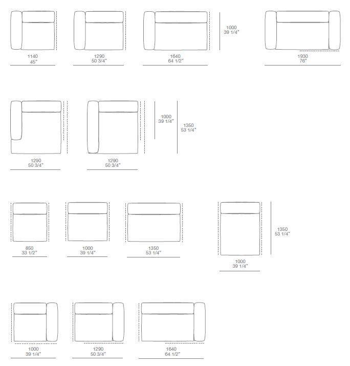 Corner Sectional Upholstered Sofa BOLTON Bolton Collection By Poliform |  Design Giuseppe Viganò