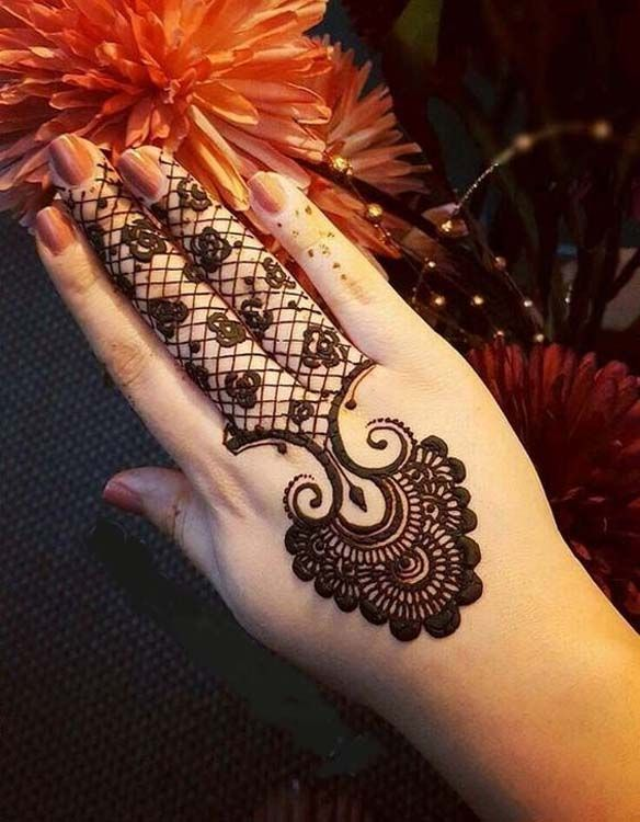 Back Hand Black Mehndi Designs 2018 Mehndi Designs Pinterest