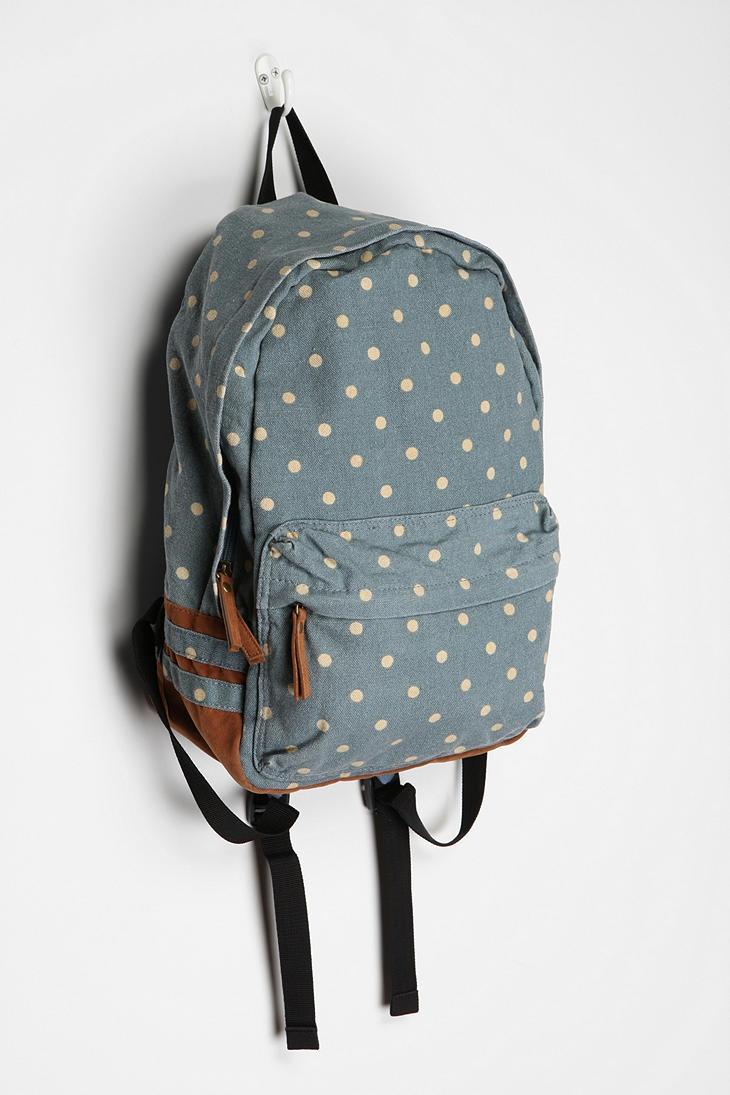 UrbanOutfitters.com > Carrot Polka Dot Backpack $59 via @jordanferney