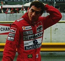 Ayrton Senna da Silva a Brazilian racing driver who was the subject of a documentary: Senna, 3 time Formula One Champion and often mentioned in The Art of Racing In The Rain by Garth Stein.