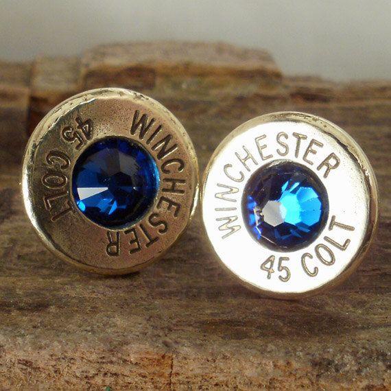 Bullet  Earrings   Ultra Thin  Colt 45  Big Sky by ShellsNStuff, $14.99