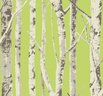 Birch Trees - Cool Autumn  [WAB-1004] Trees and Twigs | DesignerWallcoverings.com ™ - Your One Stop Showroom for Custom, Natural, & Specialty Wallcoverings | Largest Selection of Wall Papers | World Wide Showroom | Wallpaper Printers