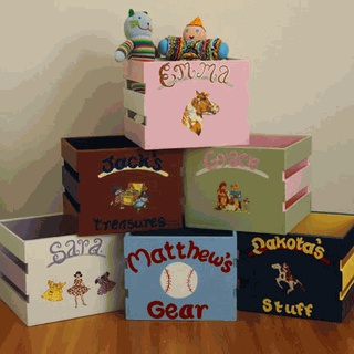 Personalized Personalized Storage Bins,  Buy plain at AC Moore & decorate
