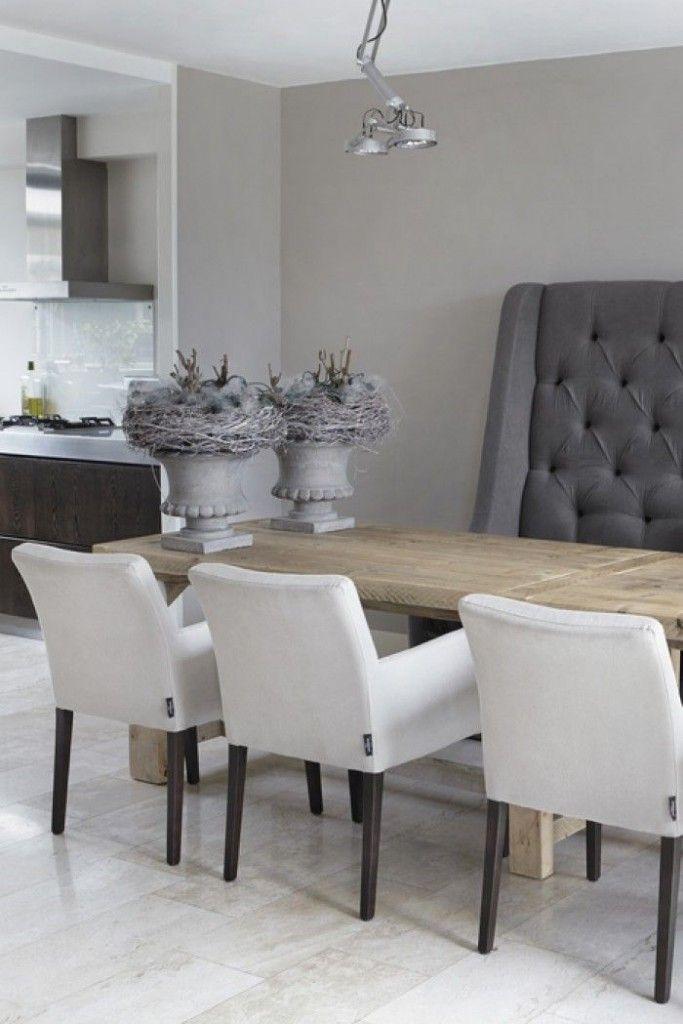 17 beste idee n over eettafel decoraties op pinterest for Eettafel stoelen landelijk