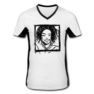 Fan-T-Shirt Unisex - Comic,Geschenk,Julia Brandstetter,Kopf,Leibal,Leibchen,Manga,Männer T-Shirt,Männer TShirt,Sport,Sportkleidung,Superwaug,Superwaug´s Stuff,Tshirt,drawing linear,einkaufen,grafisch,head,shirtshop,shoppen,spreadshirt,t-shirtshop,weiß,weißes,zeichnung