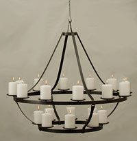 Non electric chandelier dining room Hanging candle chandelier non electric
