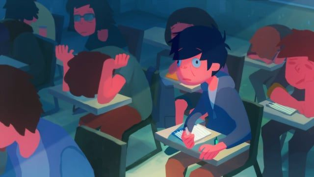 He's trying to stay awake in an afternoon classes.    - Film by Seoro Oh (Graduation film)  - 2015, 2D Digital animation  - 3:50 min    Award