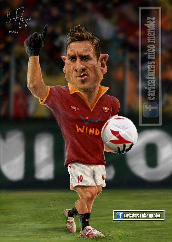 (Caricatura) Francesco Totti / Roma.