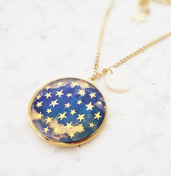 Bonbi Forest Dark is the Night Locket   Celestial Jewellery by Lee May Foster-Wilson. Click through to treat yourself! (Little tip: Receive 15% off if you sign up to our newsletter first!)