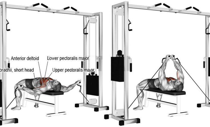 تفتيح صدر كيبل نائم لتقوية عضلات الصدر Lower