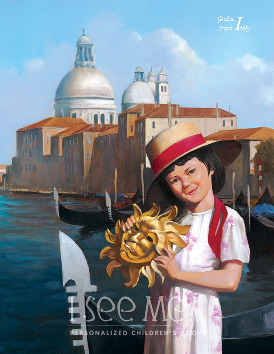 """Italy - As featured in """"My Very Own World Adventure"""" personalized children's book by I See Me!"""