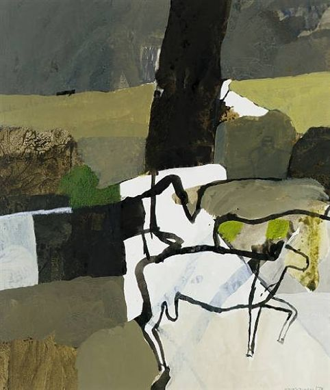 Keith Vaughan, Landscape with Animals