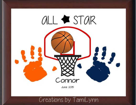 14 best sports handprints images on pinterest baby crafts basketball handprint personalized by creationsbytamilynn on etsy negle Choice Image