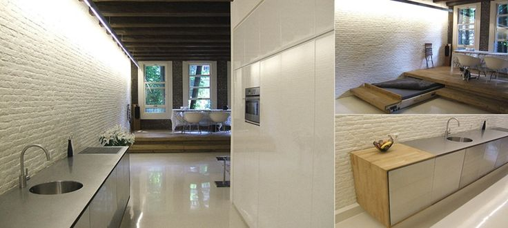 Echte pakhuis stijl met lange wanden in stoere baksteen for Interieur architect amsterdam