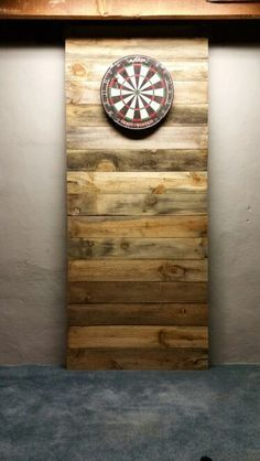 Dart board backing. My Wife and I made in our basement.                                                                                                                                                                                 More