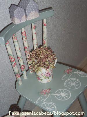 silla pintada con pintura de tiza Annie Sloan Más