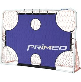 The PRIMED™ 3-in-1 Soccer Trainer offers a versatile soccer training experience. Choose from the trainer's three settings--soccer goal, shot target, and rebounder--to develop players' shooting accuracy and control in the box. The PRIMED™ Soccer Trainer stands 7' wide x 5' high and is constructed with high quality aluminum to withstand repeat shots from the soccer players who aim to improve their scoring percentage this season.