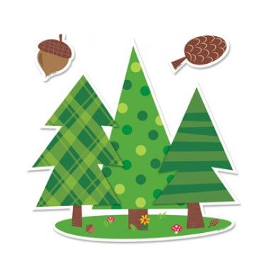 """Pine Trees 10"""" Designer Cut-Outs Woodland Friends"""