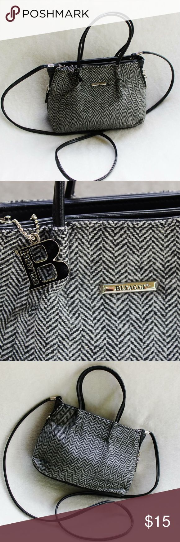 BULAGGI TWEED WOOL Crossbody / Handbag This adorable small bag is in excellent condition. It has been very gently loved. It's like new in condition. It has a detachable cross body strap that measures 49 inches. BULAGGI Bags Crossbody Bags
