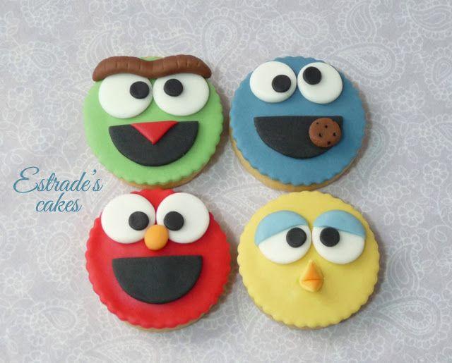 Estrade's cakes: galletas de Barrio Sesamo