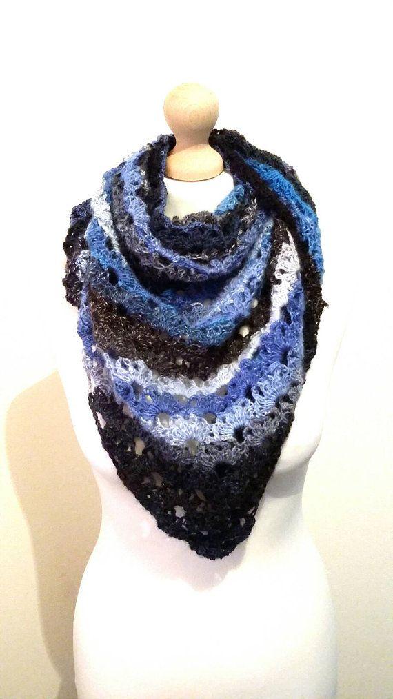 Handmade crochet scarf/ shawl / made to by KaterinakiJewelry