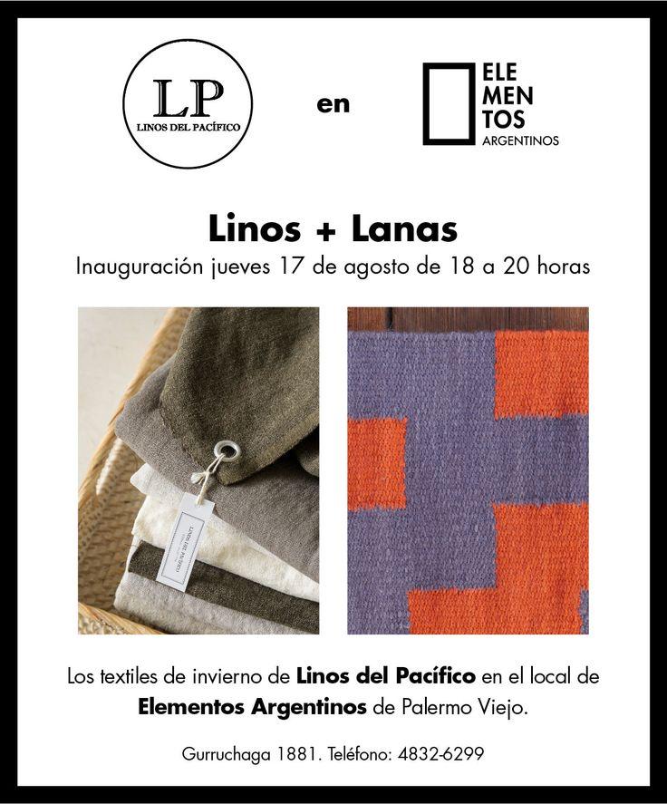 Linos + Lanas. Linos del Pacífico en Elementos Argentinos. Están todos invitados. - Elementos Argentinos