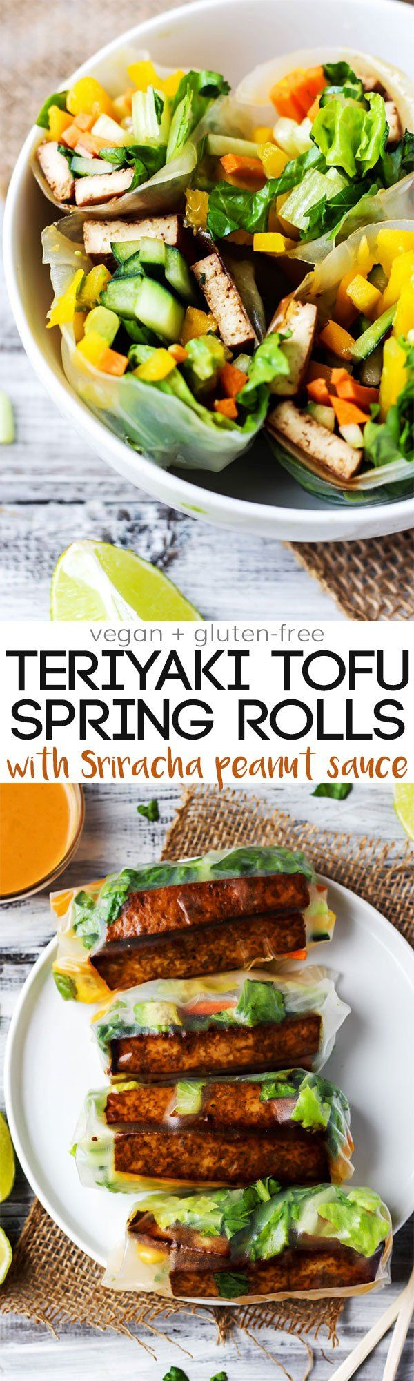 Tofu Spring Rolls with Sriracha Peanut Sauce | Recipe | Vegetables ...