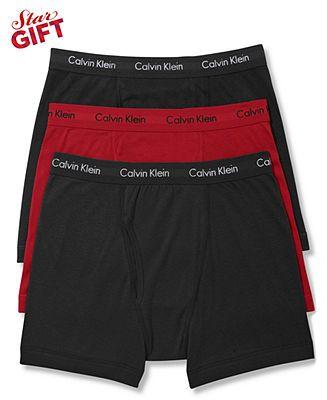 Calvin Klein Men's Underwear, Celebrity Basic Boxer Brief 3 Pack - Underwear - Men - Macy's