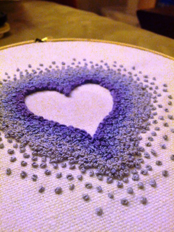 French knots.                                                                                                                                                                                 More