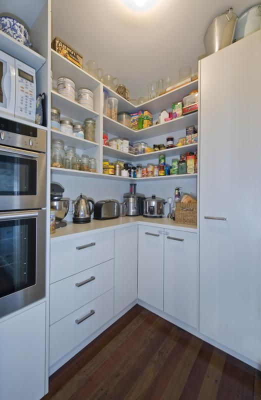 1000 images about kitchen on pinterest floors kitchens for Modern walk in pantry