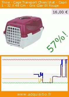 Trixie - Cage Transport Chien/chat - Capri 1 - 32 X 48 Cm - Gris Clair Et Rouge (Divers). Réduction de 57%! Prix actuel 16,00 €, l'ancien prix était de 36,93 €. https://www.adquisitio.fr/chat-boutic/cage-transport-chienchat